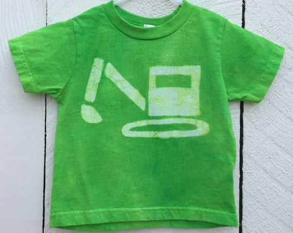 Kids Excavator Shirt, Kids Digger Shirt, Kids Truck Shirt, Boys Truck Shirt, Girls Truck Shirt, Construction Truck Shirt (18 months)