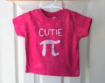 Kids Pi Day Shirt, Toddler Pi Day Shirt, Cutie Pi Shirt, Kids Math Shirt, Kids Cutie Pi Shirt, Nerdy Kids Shirt, Red Pi Day (18 months)