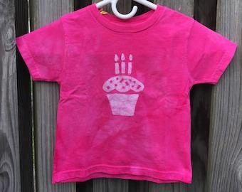 Kids Birthday Shirt, Third Birthday Shirt, Boys Birthday Shirt, Girls Birthday Shirt, Cupcake Birthday Shirt, Kids Birthday Shirt (3T)