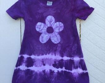 Purple Girls Dress, Tie Dye Girls Dress, Girls Tie Dye Dress, Purple Tie Dye Dress, Flower Girl Gift, Purple Flower Girl Dress (2T)