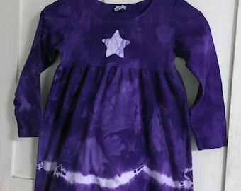 Girls Star Dress, Star Girls Dress, Celestial Girls Dress, Purple Star Dress, Purple Girls Dress, Girls Purple Dress, Long Sleeve Dress (6)