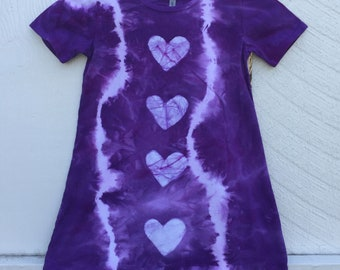 Tie Dye Girls Dress, Purple Girls Dress, Batik Girls Dress, Girls Tie Dye Dress, Purple Tie Dye Dress, Girls Purple Dress (6)