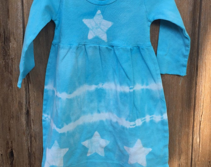 Featured listing image: Baby Star Dress, Blue Baby Dress, Tie Dye Baby Dress, Celestial Baby Dress, Batik Baby Dress, Girls First Birthday Gift (12 months)