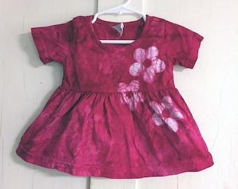 Pink Baby Dress, Pink Girls Dress, Valentine's Day Dress, Pink Flower Dress, First Birthday Gift, Pink Flower Girl Dress (12 months)