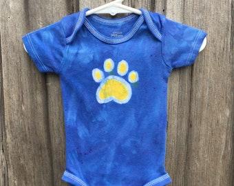 Lansing Bobcat Baby Bodysuit, Lansing New York Baby Bobcat, Lansing Central Schools, Lansing Spirit Wear, Paw Print Shirt, Lansing NY Bobcat