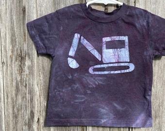 Kids Excavator Shirt, Kids Digger Shirt, Kids Truck Shirt, Boys Truck Shirt, Girls Truck Shirt, Black Truck Shirt, Black Kids Shirt (2T)