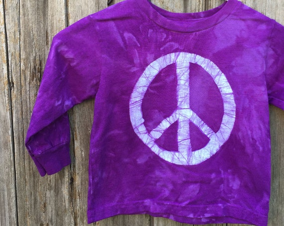Kids Peace Sign Shirt, Boys Peace Sign Sign, Girls Peace Sign Shirt, Purple Peace Sign Shirt, Purple Kids Shirt, Purple Peace Shirt (3T)
