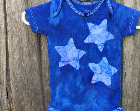 Star Baby Bodysuit, Blue Baby Bodysuit, Blue Baby Gift, Gender Neutral Baby Gift, Baby Shower Gift, Baby Boy, Baby Girl (0-3 months)