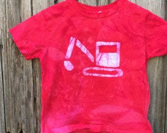 Kids Excavator Shirt, Kids Digger Shirt, Kids Truck Shirt, Boys Truck Shirt, Girls Truck Shirt, Construction Shirt, Red Truck Shirt (4/5)