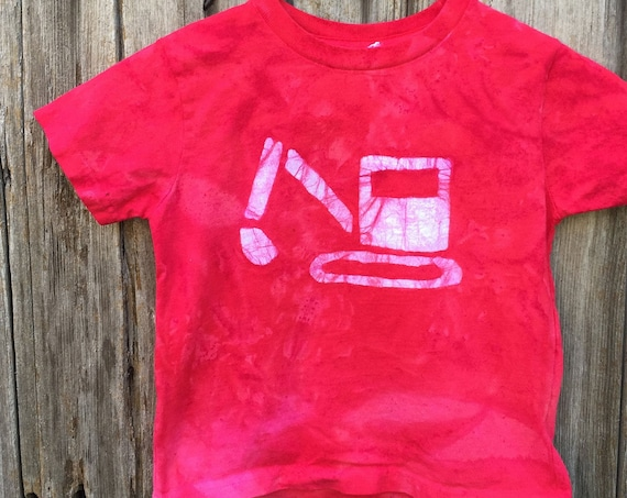 Kids Excavator Shirt, Kids Digger Shirt, Kids Truck Shirt, Boys Truck Shirt, Girls Truck Shirt, Construction Shirt, Red Truck Shirt (4/5)
