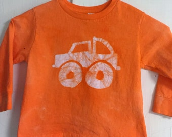 Kids Truck Shirt, Monster Truck Shirt, Boys Truck Shirt, Girls Truck Shirt, Kids Monster Truck Shirt, Orange Monster Truck Shirt (3T)