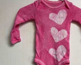 Pink Baby Gift, Baby Shower Gift, Baby Girl Gift, Pink Baby Bodysuit, Baby Valentine's Day Gift, Pink Newborn Baby Gift (Newborn)