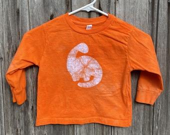 Orange Dinosaur Shirt, Kids Dinosaur Shirt, Boys Dinosaur Shirt, Girls Dinosaur Shirt, Long Sleeve Dinosaur Shirt, Dinosaur Kids Shirt (3T)