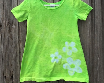 Green Girls Dress, Flower Girls Dress, Green Flower Dress, Girls Flower Dress, Lime Green Girls Dress, Neon Green Girls Dress (2T) SALE