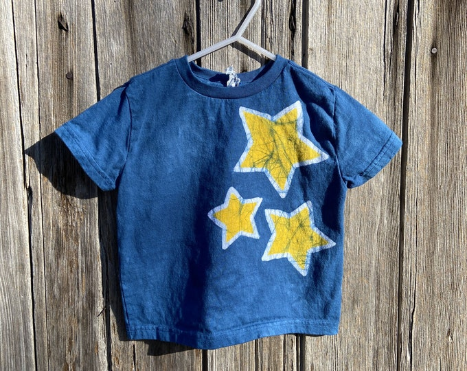 Featured listing image: Kids Star Shirt, Celestial Kids Shirt, Boys Star Shirt, Girls Star Shirt, Blue Star Shirt, Yellow Star Shirt, Kids Celestial Shirt