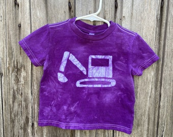 Kids Excavator Shirt, Kids Digger Shirt, Kids Truck Shirt, Boys Truck Shirt, Girls Truck Shirt, Construction Shirt, Purple Truck Shirt (2T)