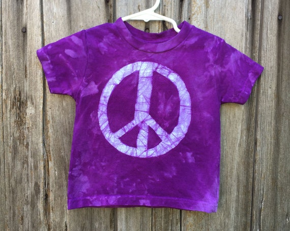Kids Peace Sign Shirt, Boys Peace Sign Sign, Girls Peace Sign Shirt, Purple Peace Sign Shirt, Purple Kids Shirt, Purple Peace Shirt (2T)