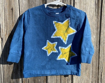 Kids Star Shirt, Celestial Kids Shirt, Boys Star Shirt, Girls Star Shirt, Blue Star Shirt, Yellow Star Shirt, Kids Celestial Shirt
