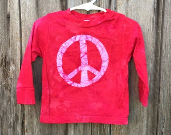 Kids Peace Sign Shirt, Boys Peace Sign Sign, Girls Peace Sign Shirt, Red Peace Sign Shirt, Red Kids Shirt, Red Peace Shirt (18 months)