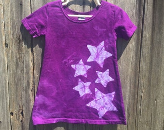 Girls Star Dress, Purple Star Dress, Purple Girls Dress, Girls Purple Dress, Star Girls Dress, Star Purple Dress, Celestial Girls Dress (2T)