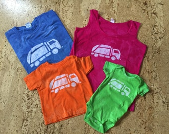 Mommy and Me Garbage Truck Shirts, Mommy and Me Outfits, Matching Mom and Child Shirts, Mother's Day Gift, Matching Mom and Son Shirts