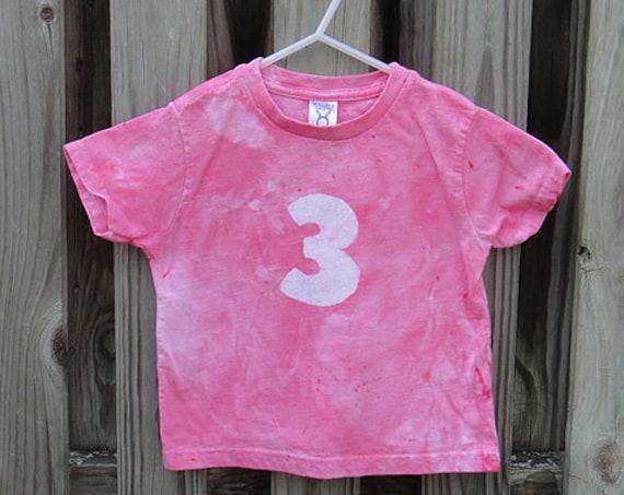 Third Birthday Shirt, Pink Third Birthday Shirt, Girls Third Birthday Shirt, Pink Birthday Shirt, 3rd Birthday Shirt (3T) SALE