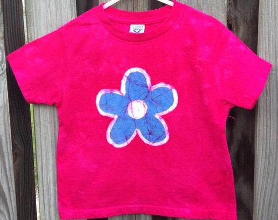 Toddler Girls Shirt, Pink Toddler Shirt, Girls Valentine's Day Shirt, Pink Girls Shirt, Pink Flower Shirt, Flower Girls Shirt (3T)