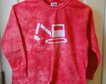 Kids Excavator Shirt, Kids Truck Shirt, Boys Truck Shirt, Girls Truck Shirt, Red Excavator Shirt, Kids Digger Shirt (10)