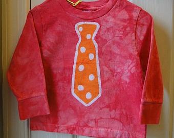 Tie Shirt, Necktie Shirt, Boys Tie Shirt, Girls Tie Shirt, Tie Shirt for Kids, Boys Shirt with Tie, Girls Shirt with Tie (18 months)
