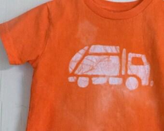 Garbage Truck Shirt, Kids Truck Shirt, Orange Truck Shirt, Girls Truck Shirt, Boys Truck Shirt, Truck Birthday Shirt, Trash Truck Shirt (4T)