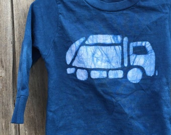 Garbage Truck Shirt, Kids Garbage Truck Shirt, Kids Truck Shirt, Boys Truck Shirt, Girls Truck Shirt, Blue Truck Shirt, (18 months)