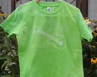 Kids Guitar Shirt (6), Electric Guitar Shirt, Green Guitar Shirt, Kids Music Shirt, Boys Guitar Shirt, Girls Guitar Shirt, American Made