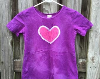 Purple Girls Dress, Girls Purple Dress, Girls Heart Dress, Back to School Dress, Back to School Dress, Batik Girls Dress (6)