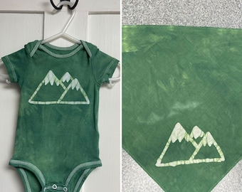 Baby and Dog Mountain Shirt, Mountain Baby and Dog Outfits, Mountain Baby and Dog Set, Matching Baby and Dog Set, Baby and Dog Match Set