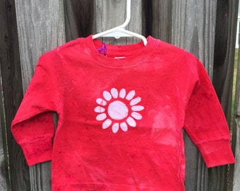Flower Girl Shirt, Red Flower Girl Shirt, Red Flower Shirt, Flower Girl Gift, Red Girls Shirt, Kids Flower Shirt (18 months) SALE