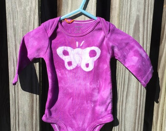 Purple Baby Gift, Baby Shower Gift, Butterfly Baby Bodysuit, Purple Butterfly Baby Gift, Baby Girl Bodysuit, Baby Girl Gift (3 months)