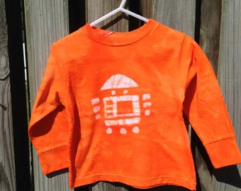 Kids Robot Shirt (2T), Toddler Robot Shirt, Long Sleeve Robot Shirt, Boys Robot Shirt, Girls Robot Shirt, Orange Robot Shirt