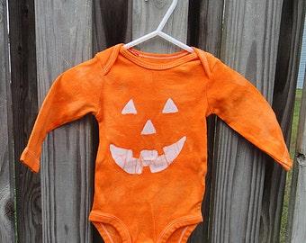 Halloween Baby Bodysuit, Baby Halloween Costume, Jack o Lantern Baby Bodysuit, Pumpkin Halloween Costume, Halloween Baby Shirt