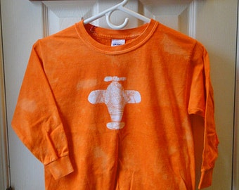 Kids Plane Shirt, Orange Plane Shirt, Long Sleeve Plane Shirt, Boys Plane Shirt, Girls Plane Shirt, Kids Airplane Shirt (8) SALE