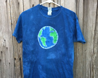 Earth Day Shirt, Batik Earth Shirt, Adult Earth Shirt, Ladies Earth Shirt, Mens Earth Shirt, Planet Earth Shirt, Globe Shirt