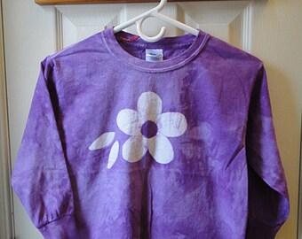 Kids Long Sleeve Shirt, Flower Girls Shirt, Purple Flower Shirt, Kids Flower Shirt, Girls Flower Shirt, Purple Kids Shirt (8)