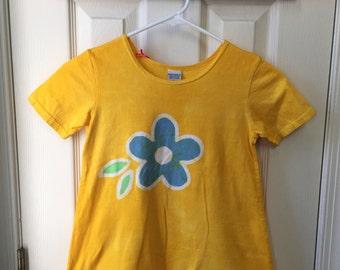 Yellow Girls Dress, Flower Girls Dress, Batik Girls Dress, Girls Flower Dress, Yellow Flower Dress, Yellow Dress, Back to School Dress (6)