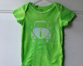 Car Baby Bodysuit, Baby Car Bodysuit, Green Car Bodysuit, Gender Neutral Baby Gift, Baby Shower Gift, Car Baby Boy (12 months)