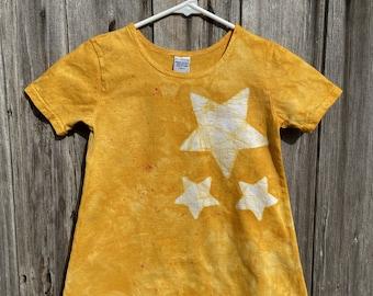 Girls Star Dress, Yellow Star Dress, Yellow Girls Dress, Girls Yellow Dress, Star Girls Dress, Star Yellow Dress, Celestial Girls Dress (6)
