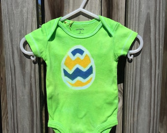 Easter Egg Bodysuit, Easter Baby Bodysuit, Easter Baby Shirt, Green Easter Egg Bodysuit, Easter Baby Boy, Easter Baby Girl (3 months)