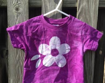 Toddler Girls Shirt, Purple Girls Shirt, Flower Girls Shirt, Toddler Valentine's Day Shirt, Purple Toddler Shirt (18 months)