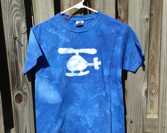 Kids Helicopter Shirt, Blue Helicopter Shirt, Boys Helicopter Shirt, Girls Helicopter Shirt, Batik Kids Shirt (10) SALE