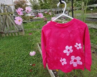 Flower Girl Gift, Pink Flower Girl Shirt, Pink Girls Shirt, Girls Pink Shirt, Girls Flower Shirt, Gift for Flower Girl, Pink Shirt (3T) SALE