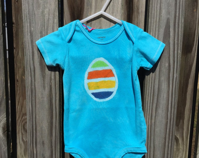 Featured listing image: Easter Baby Bodysuit, Easter Egg Bodysuit, Easter Baby Shirt, Easter Baby Boy, Easter Baby Girl, Baby's First Easter (12 months)