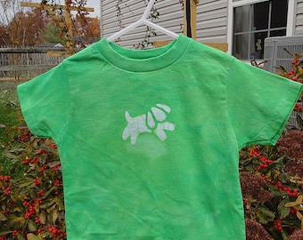 Kids Dog Shirt, Green Dog Shirt, Puppy Dog Shirt, Kids Puppy Shirt, Toddler Dog Shirt, Boys Dog Shirt, Girls Dog Shirt (2T) SALE